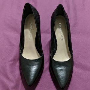 Franco Sarto Black Heels Size 9.5